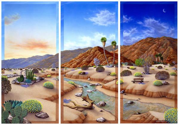 Snake Mountain Wall Art - Painting - Desert Vista by Snake Jagger