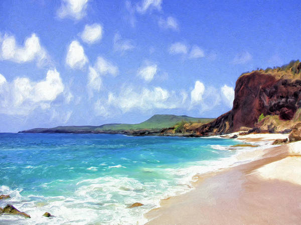 Painting - Deserted Beach On Molokai by Dominic Piperata