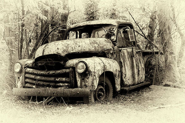 Wall Art - Photograph - Deserted In Sepia by Betty Depee