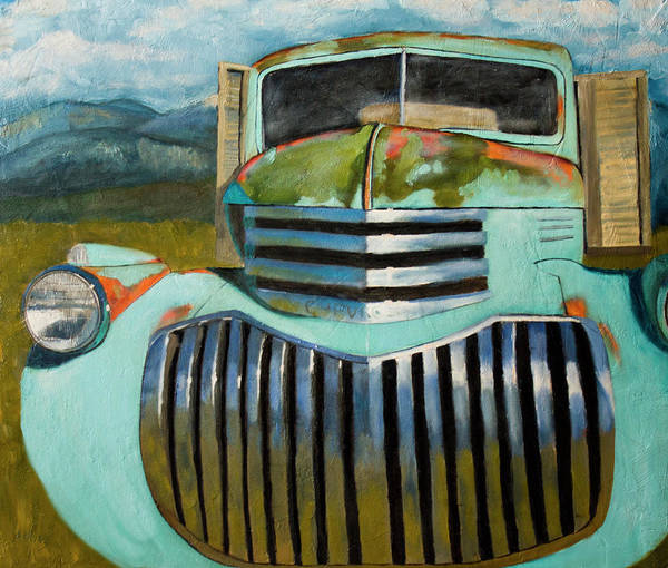 Old Chevy Truck Painting - Deserted by Jack Atkins