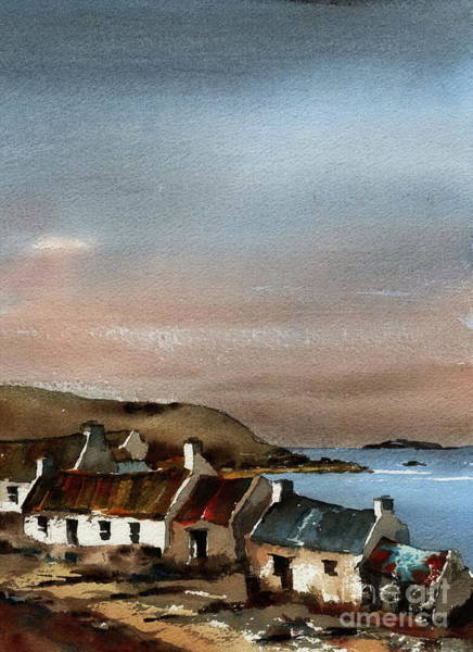 Painting - Deserted Village, Blasket Mor, Kerry by Val Byrne
