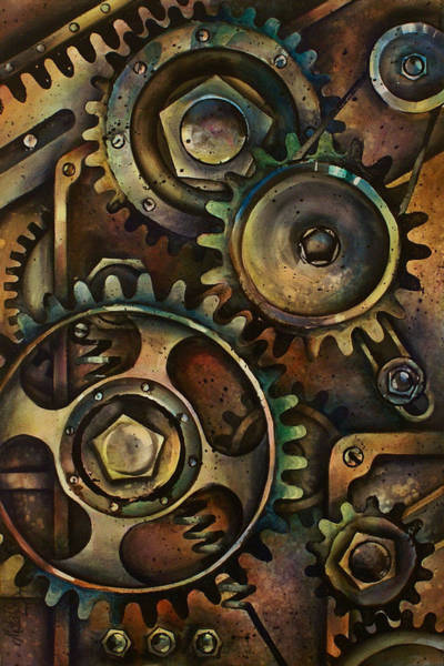 Machinery Painting - Design 3 by Michael Lang