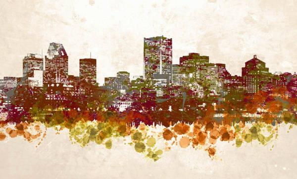 Quebec City Digital Art - Design 46 City Skyline by Lucie Dumas
