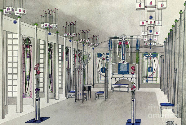 Wall Art - Painting - Design For A Music Room With Panels By Margaret Macdonald Mackintosh by Charles Rennie Mackintosh
