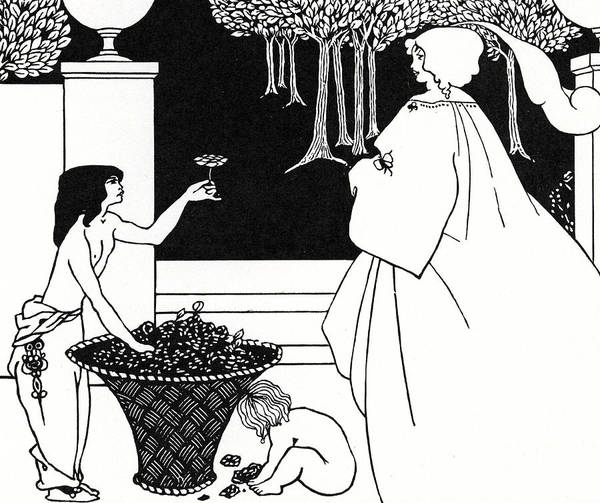 Beardsley Drawing - Design For The Yellow Book by Aubrey Beardsley
