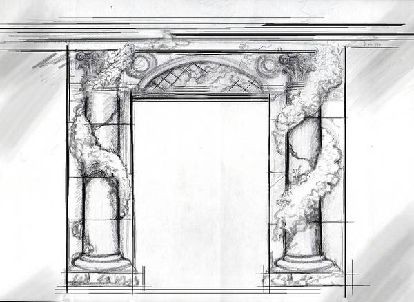 Drawing - Design For Trompe L'oeil by Thomas Lupari
