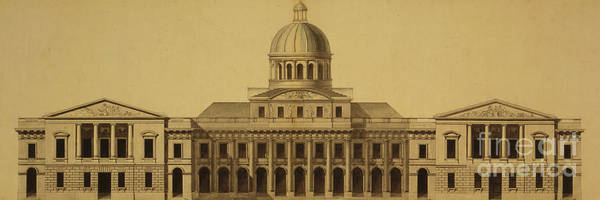 Wall Art - Drawing - Design For Us Capitol, 1793 by Etienne Sulpice Hallet