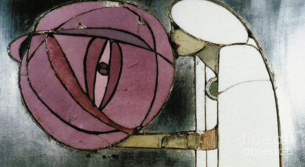Enamel Wall Art - Painting - Design From White Cabinet Designed For Mrs Rowat, 1902  by Charles Rennie Mackintosh