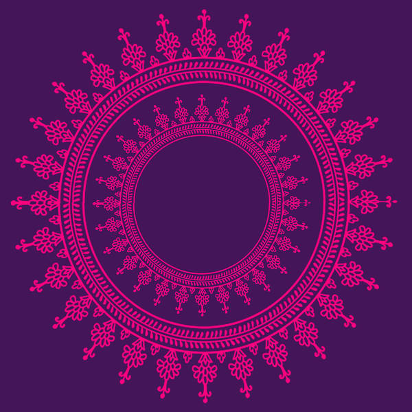 Mandala Wall Art - Digital Art - Design In Pink by Art Spectrum