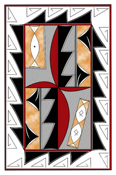 Wall Art - Digital Art - Southwest Collection - Design One In Red by Tim Hightower