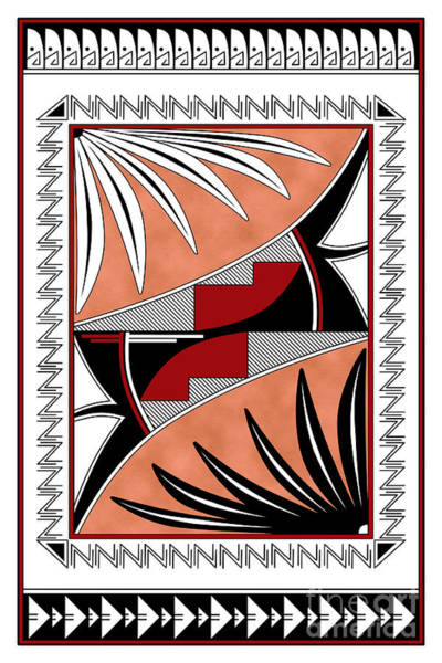 Wall Art - Digital Art - Southwest Collection - Design Three In Red by Tim Hightower