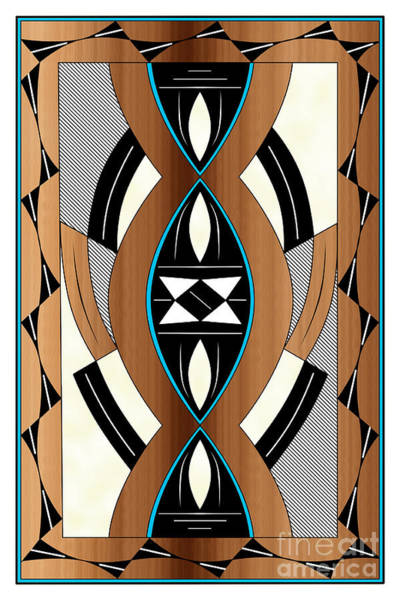 Wall Art - Digital Art - Southwest Collection - Design Two In Blue by Tim Hightower