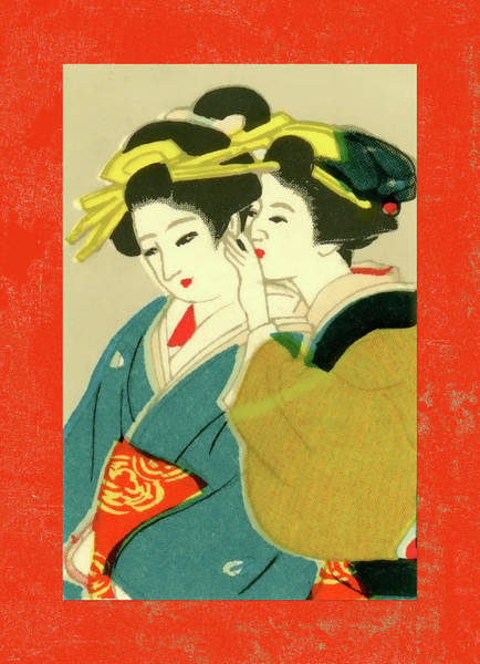 Wall Art - Mixed Media - Designer Series Japanese Matchbox Label 127 by Carol Leigh