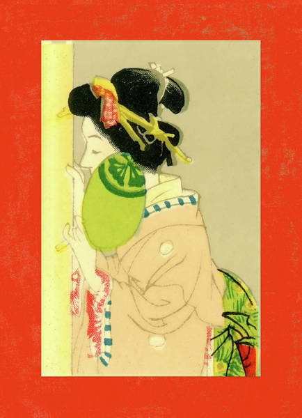 Wall Art - Mixed Media - Designer Series Japanese Matchbox Label 129 by Carol Leigh