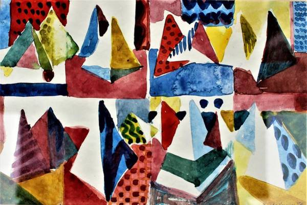 Wall Art - Painting - Designs For Pyramids by Mindy Newman