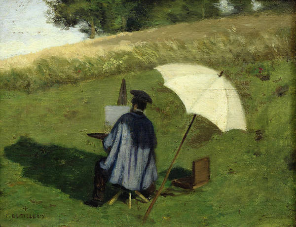 Desire Painting - Desire Dubois Painting In The Open Air by Henri Joseph Constant Dutilleux