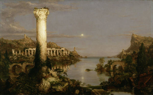 Desolation Painting - Desolation At The Course Of Empire by Thomas Cole