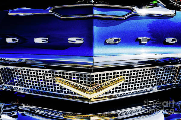 Photograph - Desoto Front Grill by M G Whittingham