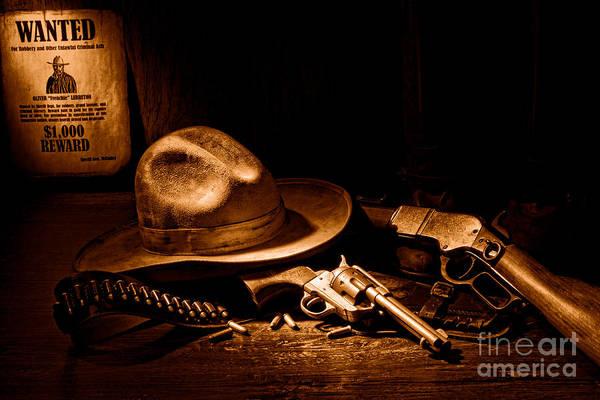 Bandit Photograph - Desperado - Sepia by Olivier Le Queinec