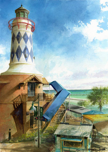 Painting - Destin Lighthouse by Andrew King