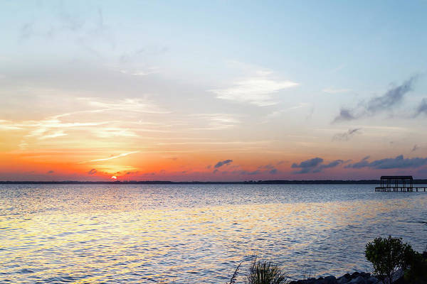 Photograph - Destin Sunset Over The Bay by Kay Brewer