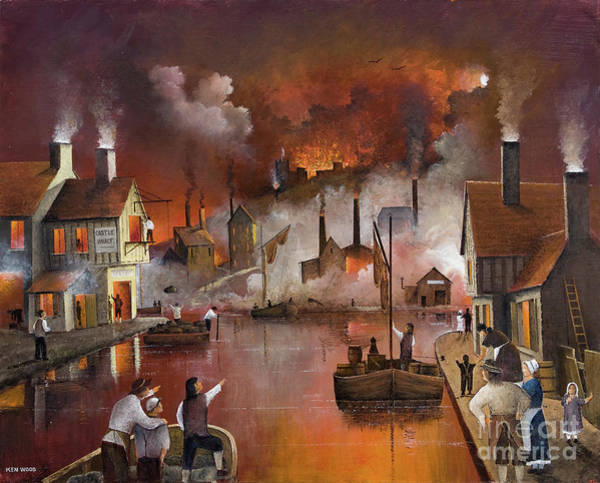 Painting - Destruction Of Dudley Castle by Ken Wood