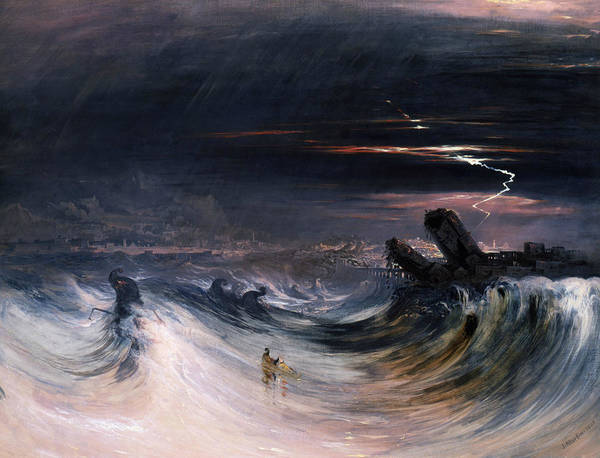 Painting - Destruction Of Tyre by John Martin