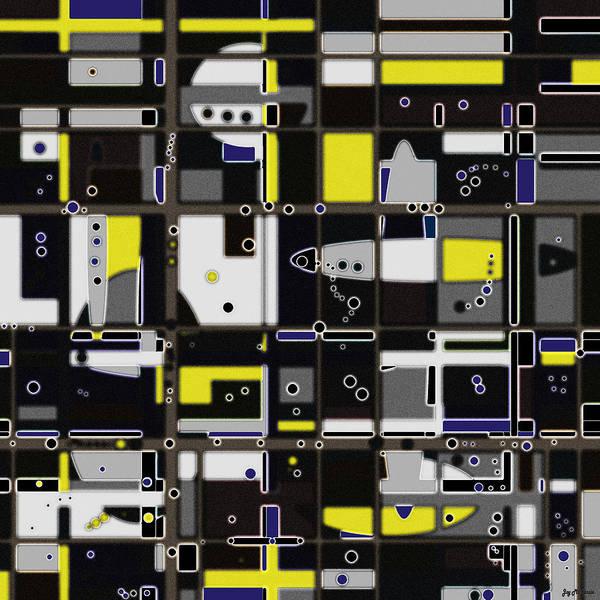 Psychedelia Digital Art - Destructured No. 1 by Joy McKenzie