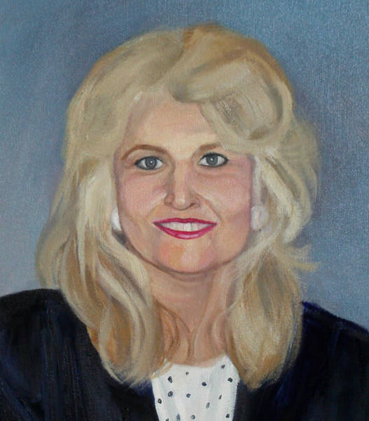Painting - Detail Brown Commissioned Portrait by Anne Cameron Cutri