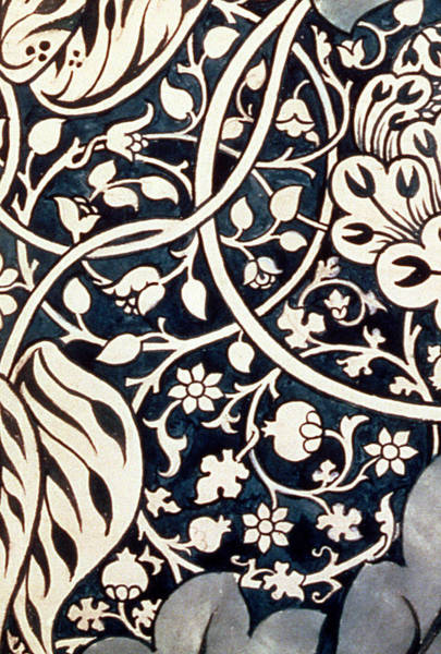 Floral Design Drawing - Detail Design For Avon Chintz by William Morris