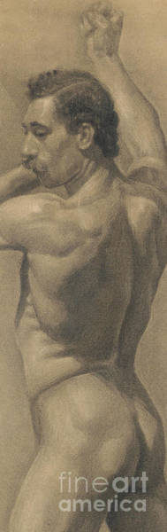 Wall Art - Drawing - Detail From A Study Of The Male Figure, 1875 by Theodore Robinson