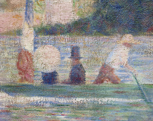 Neo-impressionism Wall Art - Painting - Detail From Bathers At Asnieres by Georges Pierre Seurat