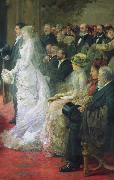 Wall Art - Painting - Detail From The Civil Marriage by Henri Gervex