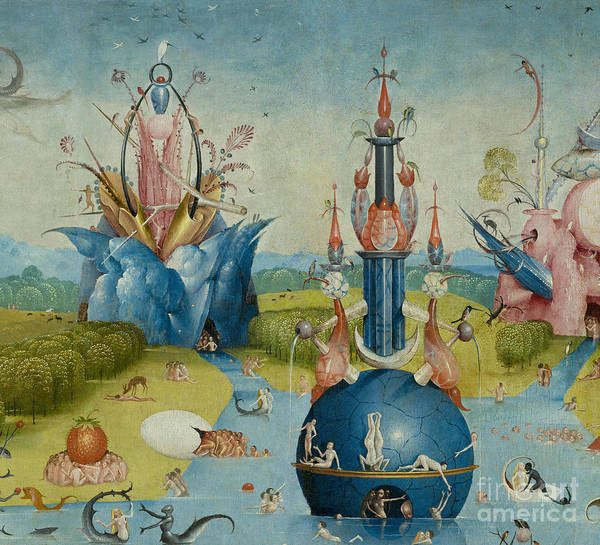 Wall Art - Painting - Detail From The Garden Of Earthly Delights  Central Panel by Hieronymus Bosch