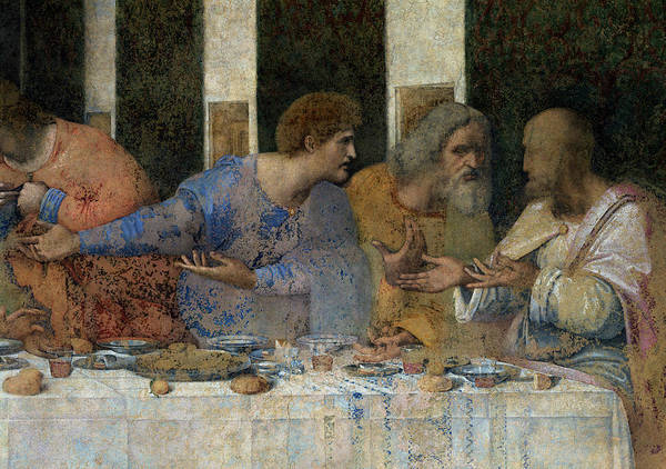Wall Art - Painting - Detail From The Last Supper by Leonardo da Vinci