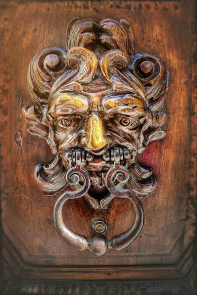 Wall Art - Photograph - Detail Of A Door Knocker Geneva Switzerland  by Carol Japp