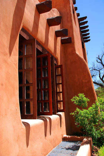 Mud House Photograph - Detail Of A Pueblo Style Architecture In Santa Fe by Susanne Van Hulst