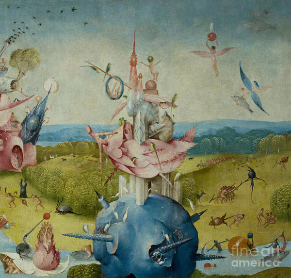 Wall Art - Painting - Detail Of Central Panel From  by Hieronymus Bosch