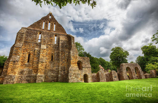 Photograph - detail of complex in Battle Abbey in town of Battle in East Suss by Ariadna De Raadt