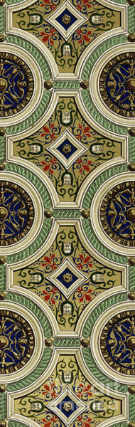Wall Art - Painting - Detail Of Decoration On Mirror Of Vault In Sala Delle Storie by Paul Marie Letarouilly