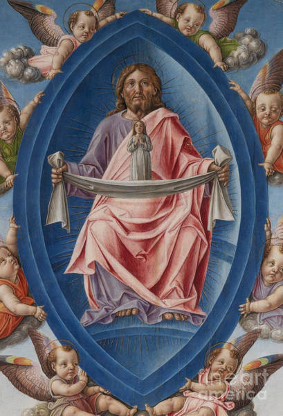 Ascension Painting - Detail Of God The Father From The Death Of The Virgin by Bartolomeo Vivarini