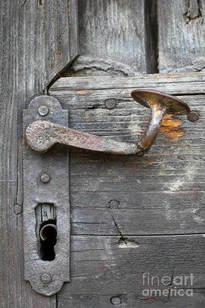 Wall Art - Photograph - Detail Of Old Door Handle At Buchlov Castle by Michal Boubin