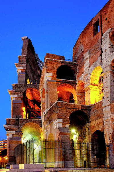 Photograph - Detail Of The Colosseum by Fabrizio Troiani