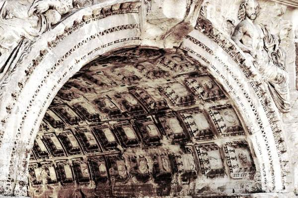 Pyrography - Detail Of The Roman Arch by Airo Zamoner