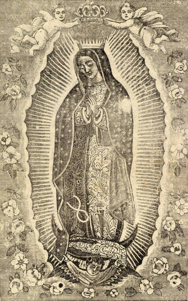 Biblical Photograph - Detail Of The Virgin Of Guadalupe by Everett