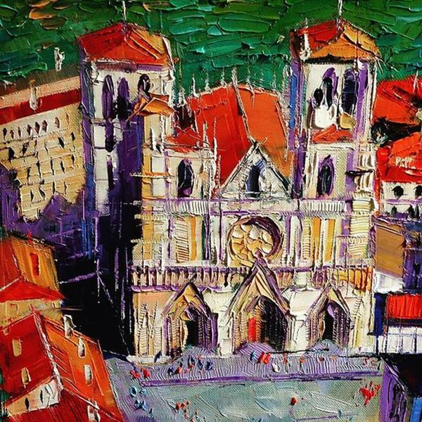 Wall Art - Photograph - Detail Shot Of #lyon Cathedral by Mona Edulesco