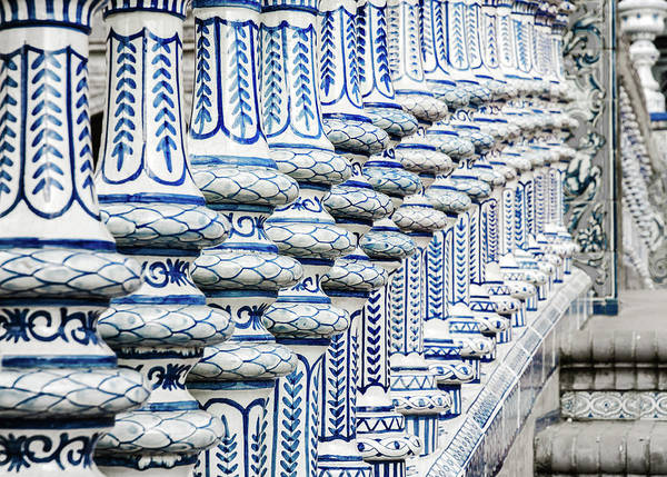 Photograph - Details In Blue From Seville by Andrea Mazzocchetti