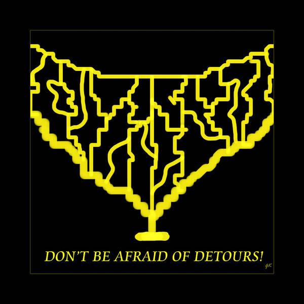 Detours Art Print