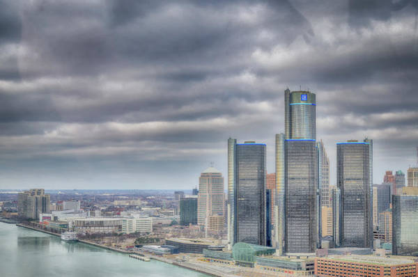 Wall Art - Photograph - Detroit - Aerial View by Winnie Chrzanowski