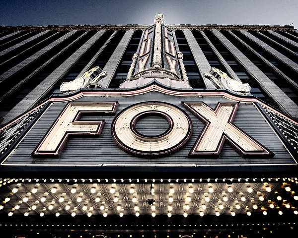 Woodward Photograph - Detroit Fox Theatre by Alanna Pfeffer